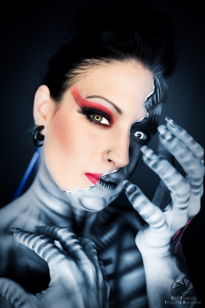 Bodypainting-Shooting mit Miriam