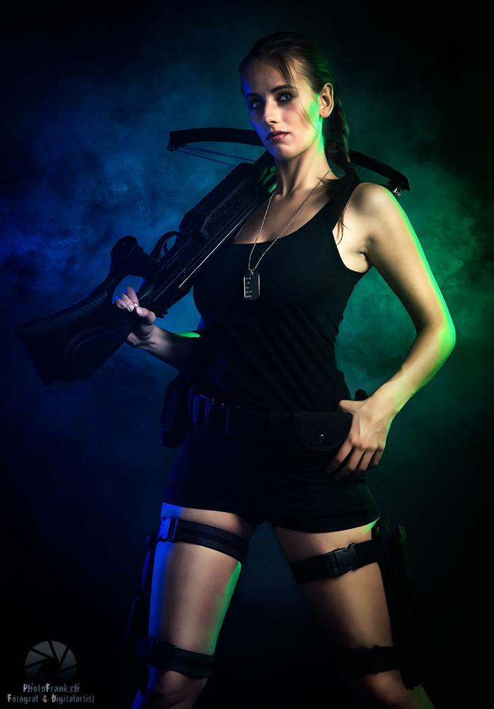 Lara Croft-Shooting